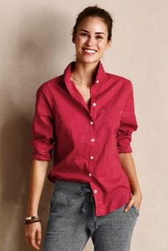 Women's Tiny Dot Shirt from Lands' End Canvas...tiny dot?  This is a Swiss Dot shirt and I love it!  Comes in navy too!