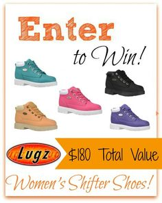#Giveaway (3) Readers Win Women's Shifter Shoes from Lugz! ($190 Total Value)