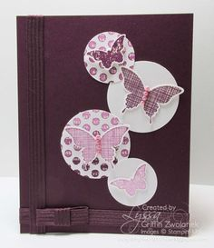 Ombre butterfly cards