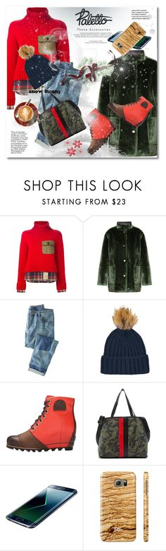 """""""Paletto-shop"""" by svijetlana ❤ liked on Polyvore featuring Dsquared2, Opening Ceremony, Louis Vuitton, Wrap, Topshop, SOREL, gx by Gwen Stefani, Samsung, polyvoreeditorial and snowbunny"""