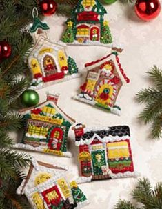 bucilla seasonal felt ornament kits mary engelbreit breitville plaid - Christmas Decoration Kits