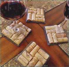 Slate Wine Cork Coasters Perfect for Bridesmaid & Wedding Gifts from ScatteredTreasures on Etsy. Saved to Wine Cork Gifts. Wine Craft, Wine Cork Crafts, Wine Bottle Crafts, Crafts With Corks, Wine Cork Coasters, Slate Coasters, Diy Coasters, Homemade Coasters, Wine Cork Projects