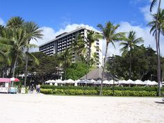 Hale Koa military resort on Waikiki Beach in Oahu, Hawaii.  We stayed here for a few nights during our ten year anniversary vacation.  Great spot!