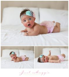 Four Month Old Portraits by Just Maggie Photography - Santa Clarita Baby's First Year Photographer