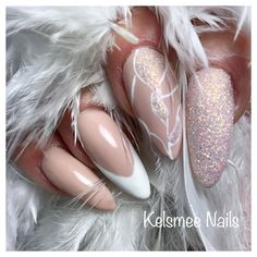 Nude nails, french manicure fine lines and sugaring