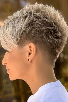 Funky Short Hair, Short Choppy Hair, Really Short Hair, Super Short Hair, Short Grey Hair, Short Hair Styles, Short Hair Cuts For Women Pixie, Pixie Styles, Short Spiky Hairstyles