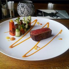 "Steak ""Mignon"" with grilled vegetables"