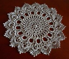 Салфетка крючком часть 2 (crochet doily Part 2)