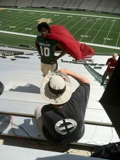 Weird photoshoot at Baylor.