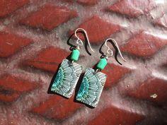 Recycled 2015 Starbucks gift card earrings. por lorikovash en Etsy