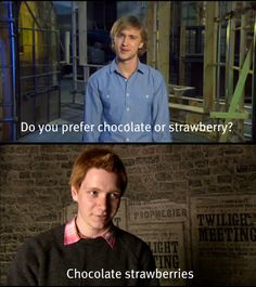 LOVE THEM! WEASLEYS ARE THE BESTS!!! MALFOYS ARE HORRIBLE!!! STILL, LOVE THEM.