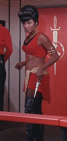 "Uhura (Nichelle Nichols) - Star Trek: The Original Series ""Mirror, Mirror"" (First Broadcast: October Star Trek 1966, Star Trek Tv, Star Trek Ships, Star Wars, Gi Joe, Mirror Universe, Akira, Nichelle Nichols, Star Trek Original Series"