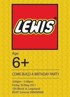 Lego party-cute invite