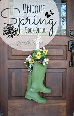 Unique Spring Door Wreaths