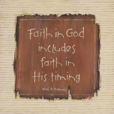 When we see ourselves questioning why now? believe God has a reason for it to be that way. And one day your answer to that question will be answered and you will understand the reason for his timing. Faith...