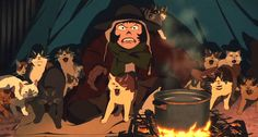 Tokyo Godfathers (Anime). That's one serious crazy cat lady!
