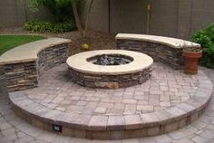 seatwalls and fire pit
