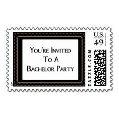 You're Invited To A Bachelor Party Postage Stamps. Wanna make each letter a special delivery? Try to customize this great stamp template and put a personal touch on the envelope. Just click the image to get started!