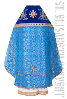 Bue priest vestment of brocade and velvet, Special Price $400.00. Catalog of St…