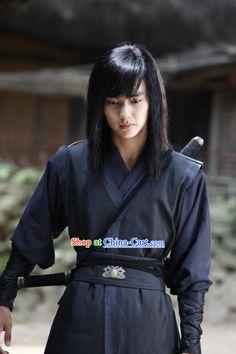 Traditional Korean Black Swordsman Costumes