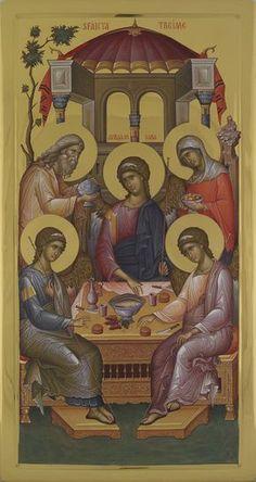 Archangels, Orthodox Icons, Hagiography, Painting, Trinity, Art, Angel, Scene