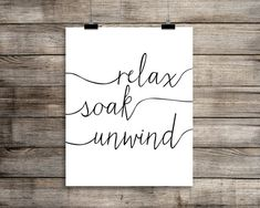 Relax. Soak. Unwind. Bathroom Art Print  Modern by BackPorchPrints