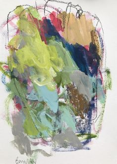 Someone Told Me Once To Plant A Garden 1 Mixed media on paper  By Theresa Benavidez