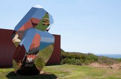 RockGiant: Enormous, Mirror-Polished, Stainless Steel Stone Sculpture | Jeannie Huang