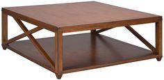 "Vanguard Furniture: 8322C - Elis (Cocktail Table) 46""D square coffee table"
