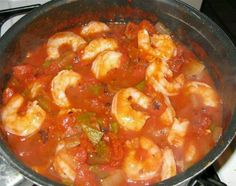 Louisiana Shrimp Creole Ingredients: 1 or more sticks butter 8 tbsp. flour 1 c. chopped parsley 1 doz. green onions, chopped 1 green pepper, chopped 8-9 cloves garlic, chopped 4 lb. or more shrimp 1/2 stalk celery, chopped 2 med. onions, chopped 6 c. water 3 cans tomato paste 1 tsp. sugar 2 tbsp. salt 1/4 cup apple cider vinegar Preparation: Cook butter and flour until browned; add vegetables. Saute 10-15 minutes. Add water and remaining ingredients except vinegar and shrimp. Simmer 30…