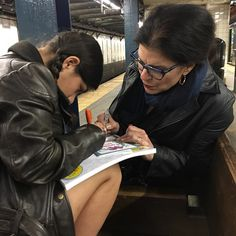 Coloring on the #subway