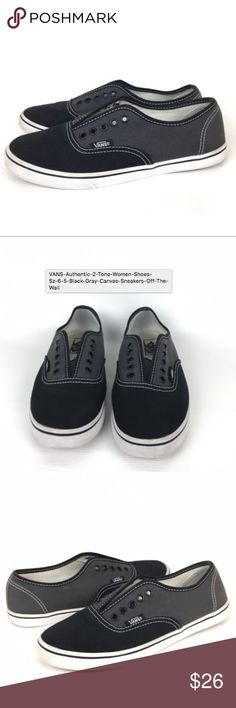 7e3d8b4f887 VANS Authentic 2 Tone Women Shoes Sz 6.5 Black Gra Excellent condition.  Gently used.