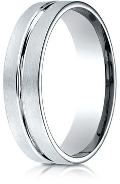 Banvari Benchmark Palladium Comfort-Fit Satin-Finished with High Polished Center Cut Carved Design Band Ring Center Cut, Jewelry Accessories, Unique Jewelry, Engagement Jewelry, Band Rings, Wedding Rings, Wedding Band, Rings For Men, White Gold