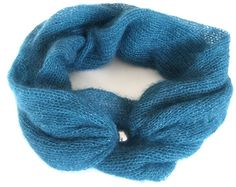 "Items similar to Knitted Infinity Scarf ""BLUE CLOUD"" Mohair / Silk Blue Soft Circle Loop Infinity Scarf Fall Winter Accessories Shawl on Etsy Blue Clouds, Fall Scarves, Winter Accessories, Metal Beads, Silver Color, Shawl, Infinity, Fall Winter, Silk"