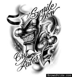 697aa375e My Brother Tatto Joker Face Laugh Now Cry Later Picture By Pictures Joker Face  Tattoo,