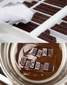 chocolate printing blocks