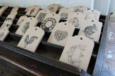 letterpress gift tags at flywheel