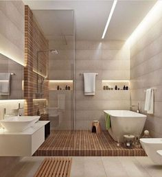 Modern bathroom design via @liambarion - Architecture and Home Decor - Bedroom - Bathroom - Kitchen And Living Room Interior Design Decorating Ideas - #architecture #design #interiordesign #homedesign #architect #architectural #homedecor #realestate #contemporaryart #inspiration #creative #decor #decoration
