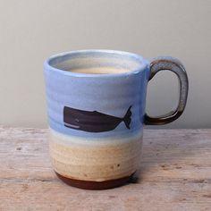 Tall Sperm Whale Mug by JuliaSmithCeramics on Etsy