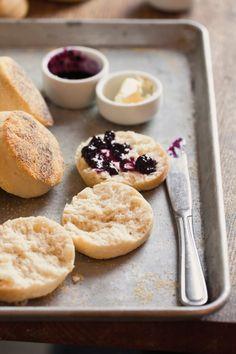 Homemade English Muffins - Williams Sonoma (Recipe calls for buttermilk & butter.)