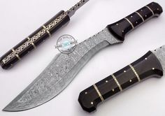 "15.50"" Custom Made Beautiful Damascus Steel Kukri Bowie Knife (AA-0333-2) #UltimateWarrior"
