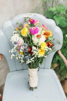 DIY summer bridal bouquet | Wedding & Party Ideas | 100 Layer Cake