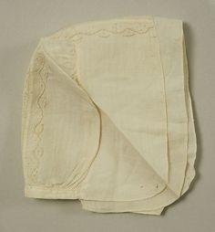 Biggin Date: 18th century Culture: British Medium: linen Dimensions: Length: 12 in. (30.5 cm)