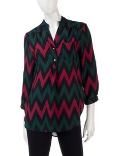 Shop today for Wishful Park Multicolor Chevron Woven Popover Top  & deals on Knit Tops! Official site for Stage, Peebles, Goodys, Palais Royal & Bealls.