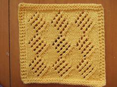 Free Knitting Pattern - Dishcloths & Washcloths : Diamonds Cloth