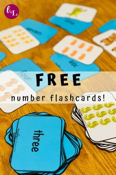 Use these FREE number flashcards to extend math learning with you little learner! Kindergarten Flash Cards, Math Flash Cards, Printable Activities For Kids, Preschool Activities, Educational Activities, Letter Activities, Learning Numbers Preschool, Numbers Kindergarten, Free Printable Numbers