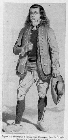 Le costume des Hommes de Brasparts (1790-1930)