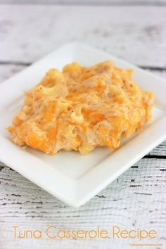 Cheesy Tuna Casserole Recipe that your family is going to love! Mine did!
