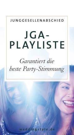 """Die richtige Stimmung für den JGA erhaltet ihr mit unserer Playlist """"Musik für euren Junggesellinnenabschied"""". Einfach auf dem Handy abspielen und abrocken. https://www.weddingstyle.de/musik-fuer-euren-junggesellinnenabschied/?utm_campaign=coschedule&utm_source=pinterest&utm_medium=weddingstyle&utm_content=JGA-Playliste%3A%20Die%20perfekte%20Musik%20f%C3%BCr%20euren%20Junggesellinnenabschied"""