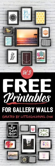 Art Printables for Gallery Walls Vol. 3 Hang These Free Printables On Your Gallery Walls Vol. 3 In the latest roundup, I focus on an eclectic mix of patterns, prints, illustrations and stock photography to freshen up your home decor.Hang These Free Printa Free Printable Art, Free Printables, Printable Quotes, Free Prints, Wall Prints, Home And Deco, Diy Wall, Dollar Stores, Diy Home Decor